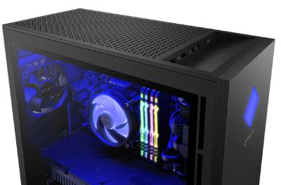 HP OMEN 25L Desktopの筐体・ライトニング