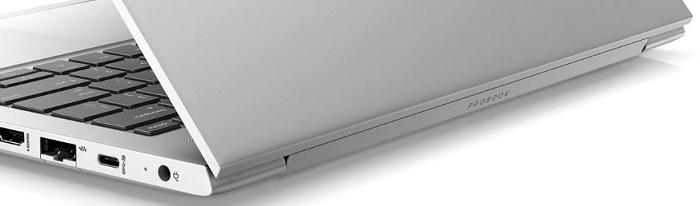 HP Probook 430 G7の外観・ヒンジにあるロゴ