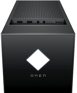 HP OMEN 25L Desktopのインターフェイス