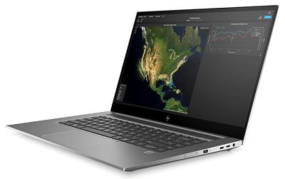 HP ZBook Create G7の外観 右斜め前から