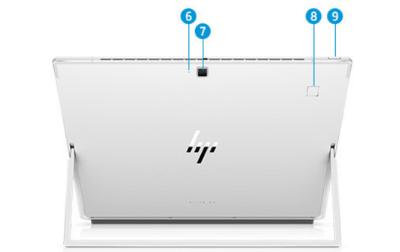 HP Ekite x2 4Gのインターフェイス 背面