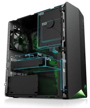 HP Pavilion Gaming Desktop TG01の筐体内部
