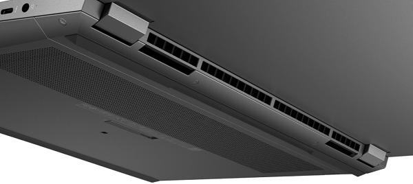 HP XBook Fury 15 G7の冷却システム 吸気口と排気口