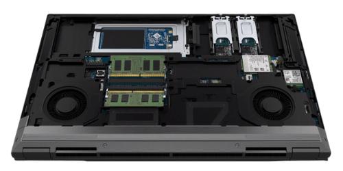 HP ZBook Fury 15 G7の内部