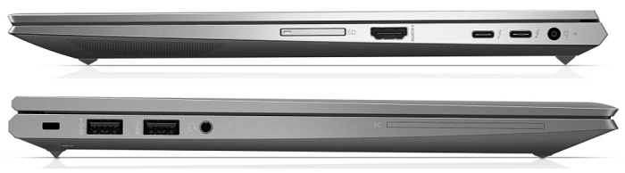 HP ZBook Firefly 14 G7のインターフェイス