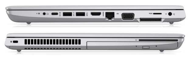 HP ProBook 650 G5のインターフェイス
