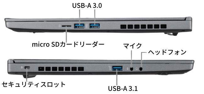 G-Tune E5-144のインターフェイス