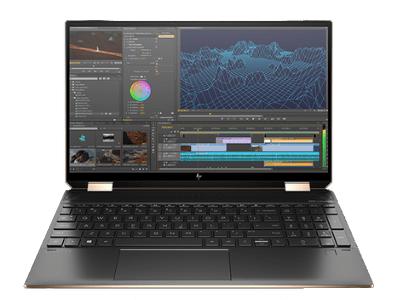 HP Spectre x360 15の外観 正面から