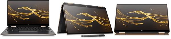 HP 2 in 1 PC デスクトップモード、テントモード、タブレットモード