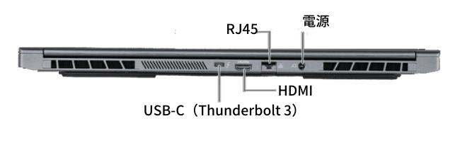 G-Tune E5-144 背面インターフェイス