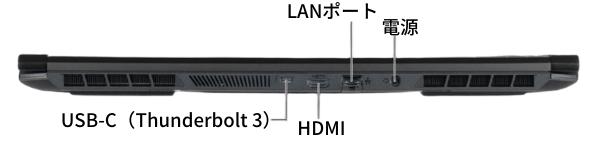 G-Tune H5の背面インターフェイス
