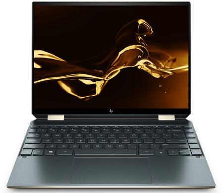 HP Spectre x360 14(2020年モデル・ポセイドンブルー)の外観 正面