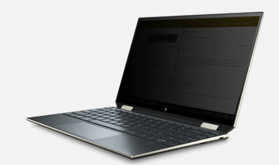 HP Spectre x360-aw2000 sure viewをONにした状態