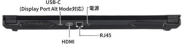 G-Tune E5の背面インターフェイス