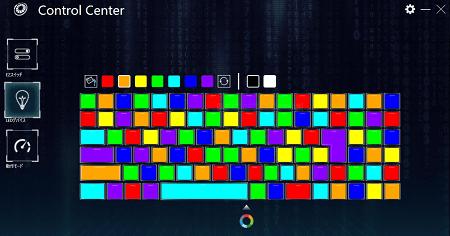 G-Tune H5のキーボード バックライトカラーを変更する1キーごとにControl Center
