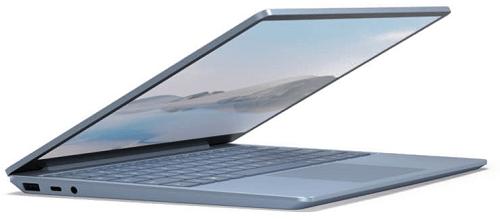 Surface Laptop Goの外観 左斜め前から