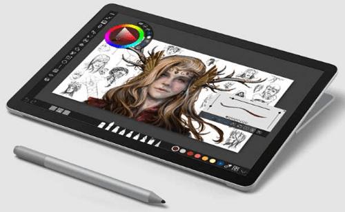 Surface Go 2の外観 タブレットモード