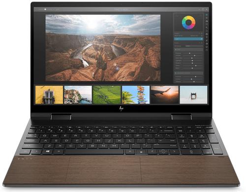 HP Envy x360 15-ed1000(インテル)ナイトフォールブラック&ウッドカラー 正面