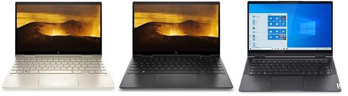 HP Envy X360 13-bd0000と比較機種の筐体