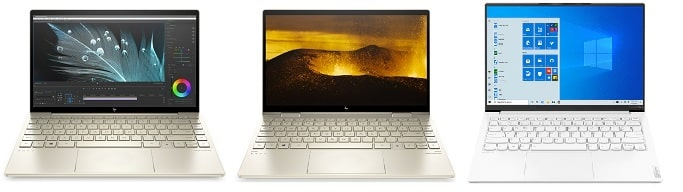 HP Envy 13-ba1000と比較機種の筐体
