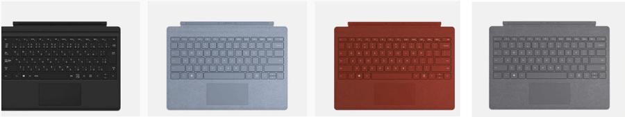 Surface pro 7のタイプカバーの種類