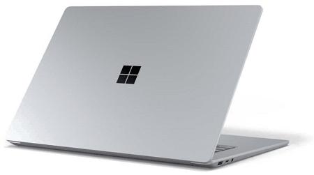 Surface Laptop 3の外観 背面
