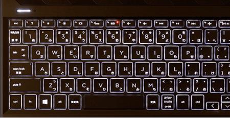 HP Pavilion 15-eh0000のキーボード バックライトON