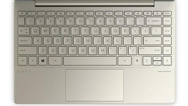 HP Envy 13-ba1000のキーボード