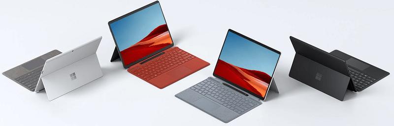 Surface Pro Xのカラーとキーボードのカラーバリエーション