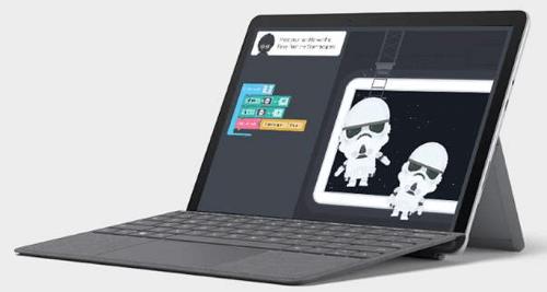 Surface Go 2の外観 デスクトップモード