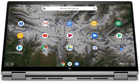 HP ChromeBook x360 14c タブレットモード