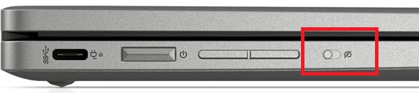 HP ChromeBook x360 14cのカメラキルスイッチ
