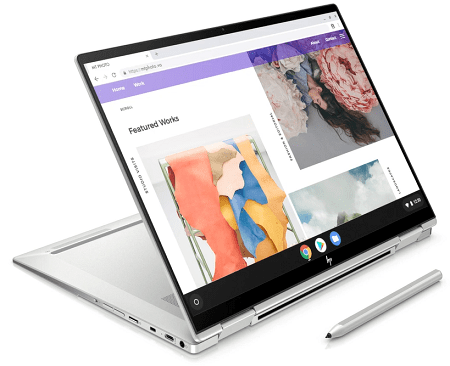 HP Chromebook x360 13c スタンドモード