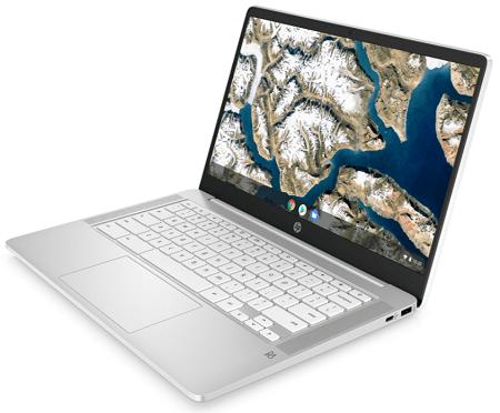 HP ChromeBook 14aの外観 右斜め前から