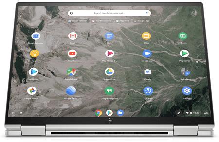 HP Chromebook x360 13c タブレットモード