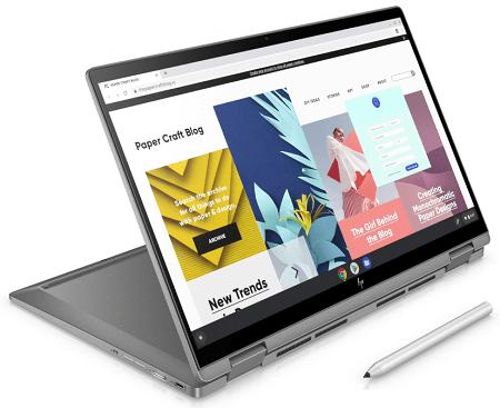 HP ChromeBook x360 14c スタンドモード