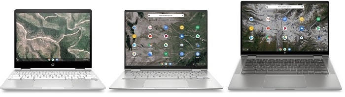 HP Chromebook 14aと比較機種の筐体