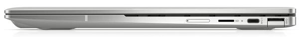 HP Chromebook x360 13c 閉じた状態の側面