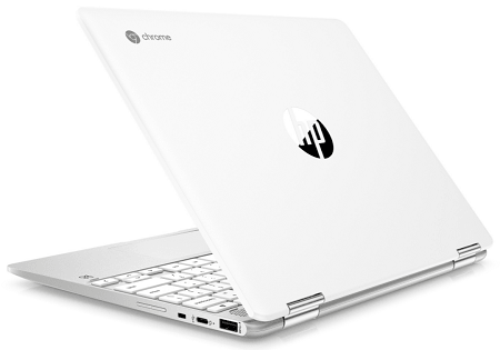 HP ChromeBook x360 12b-ca0000の外観 背面