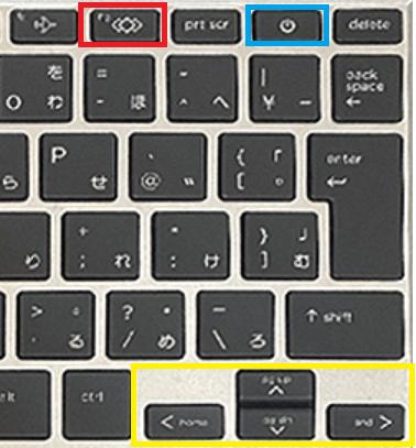 HP EliteBook 830 G7のキーボード 右側部分