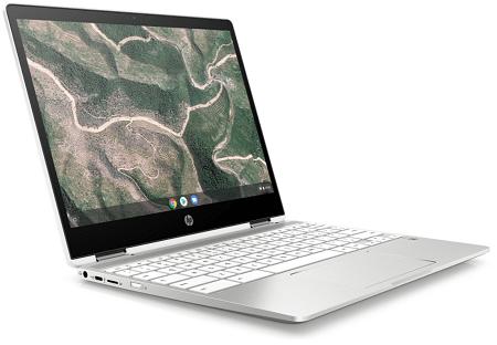 HP ChromeBook x360 12b-ca0000の外観 左斜め前から