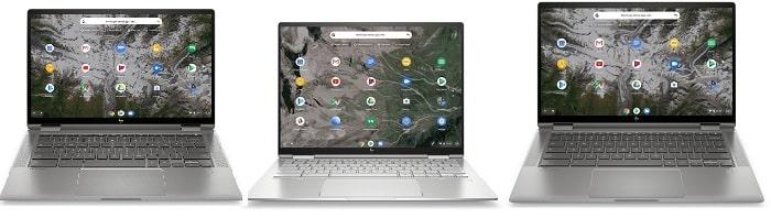 HP ChromeBook x360 14cと比較機種の筐体