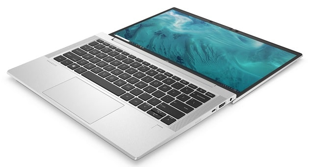 HP ProBook 635 Aero G8 180度開いた状態