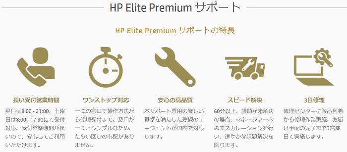 HP Elite Premiumサポートの概要
