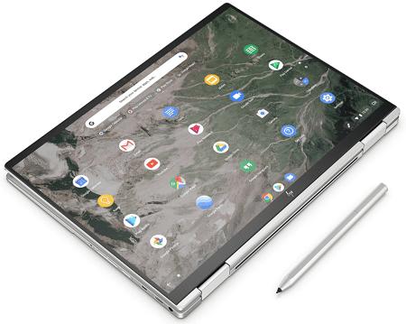 HP Chromebook x360 13c タブレットモード、別売りのアクティブペン