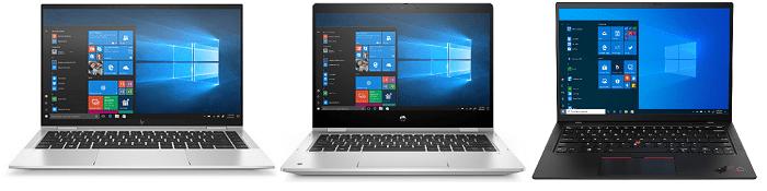 HP Elitebook x360 1040 G7と比較機種