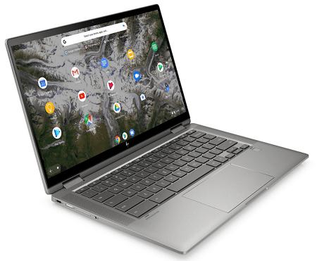 HP ChromeBook x360 14cの外観 左斜め前から