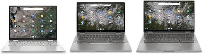 HP ChromeBook x360 13cと比較機種の筐体