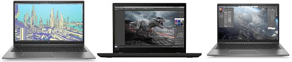 HP Firefly 15 G8とFire fly 14 G8、ThinkPad P15sの筐体比較