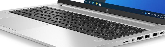 HP ProBook 450 G8のキーボード面